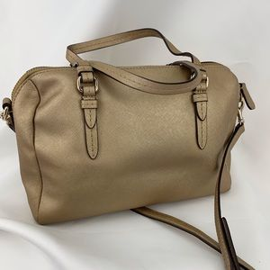 Coach Bags - COACH Authentic Bowler shoulder handbag gold